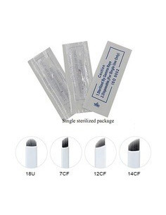 Aiguilles Microblading 7 ,9 ,12 ou14 CF ( 25 pièces ) 30,00€ Matériel Microblading