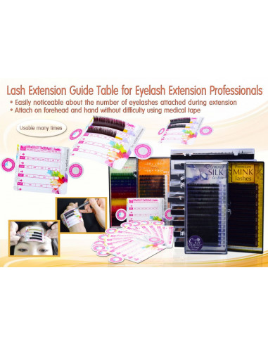 Guide Table Extension De Cils ( Lot de 20 ) 4,90€ Matériel Extension de cils